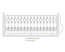 Кованое балконное ограждение, артикул Б-009