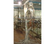 Кованая сова из нержавеющей стали