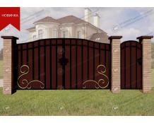 Кованые ворота В-088