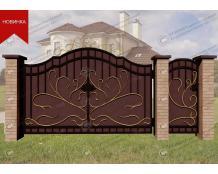 Кованые ворота В-093