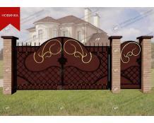 Кованые ворота В-095