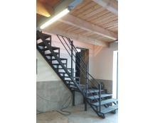 Металлокаркас лестницы из листа с лазерной резкой