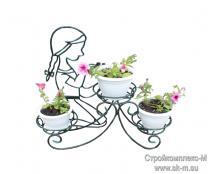 Напольная подставка для цветов Девочка