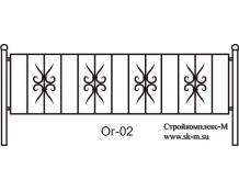 Кованая ограда, артикул Ог-02