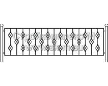 Кованая ограда, артикул ог-08