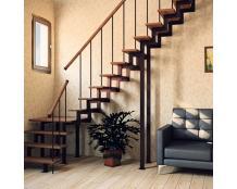 Металлокаркас лестницы из швеллера и уголка