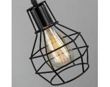 Кованая люстра в виде большой лампочки