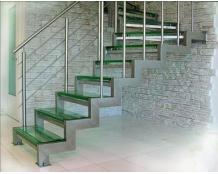 Лестница из нержавеющей стали