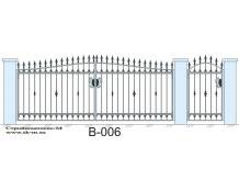 Кованые ворота, артикул В-006