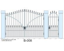 Кованые ворота, артикул В-008
