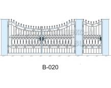 Кованые ворота, артикул В-020
