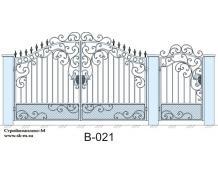 Кованые ворота, артикул В-021