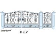 Кованые ворота, артикул В-022