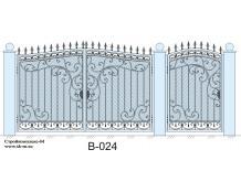 Кованые ворота, артикул В-024