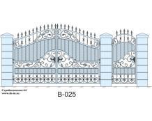 Кованые ворота, артикул В-025