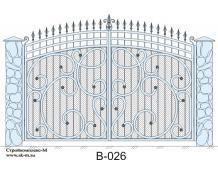 Кованые ворота, артикул В-026