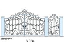 Кованые ворота, артикул В-028