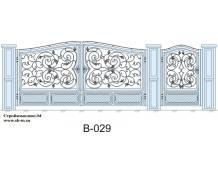Кованые ворота, артикул В-029