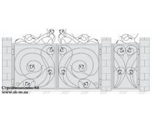 Кованые ворота, артикул В-034