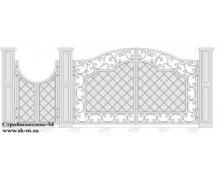 Кованые ворота, артикул В-035