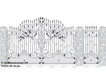Кованые ворота, артикул В-037
