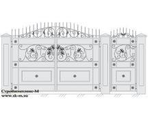 Кованые ворота, артикул В-038