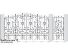 Кованые ворота, артикул В-039