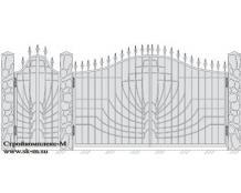 Кованые ворота, артикул В-041