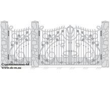 Кованые ворота, артикул В-042