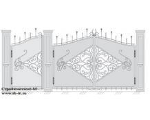 Кованые ворота, артикул В-044