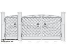 Кованые ворота, артикул В-045