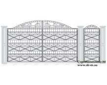Кованые ворота, артикул В-048