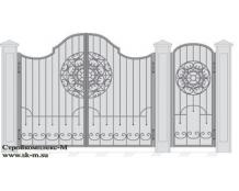 Кованые ворота, артикул В-051