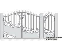 Кованые ворота, артикул В-052
