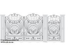 Кованые ворота, артикул В-055