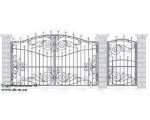 Кованые ворота, артикул В-057