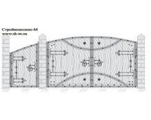 Кованые ворота, артикул В-059