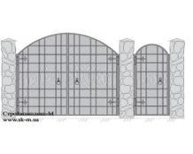 Кованые ворота, артикул В-060