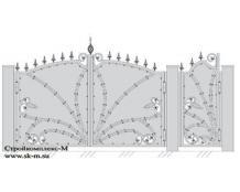 Кованые ворота, артикул В-062