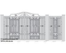 Кованые ворота, артикул В-064