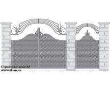 Кованые ворота, артикул В-066