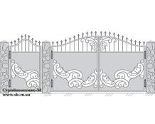 Кованые ворота, артикул В-069