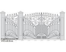 Кованые ворота, артикул В-070