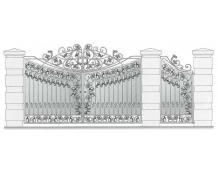 Кованые ворота, артикул В-075