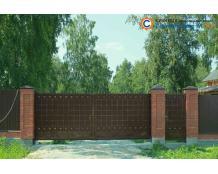 Кованые ворота с калиткой В-086