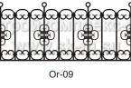 Кованая ограда, артикул ог-09