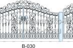 Кованые ворота, артикул В-030