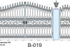 Кованые ворота, артикул В-019