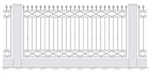 Кованый забор, артикул З-018