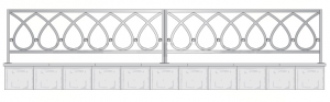 Кованая ограда, артикул Ог-21
